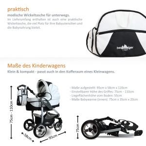 3 in 1 kombikinderwagen komplettset inkl. kinderwagen babyschale und sportwagen aufsatz