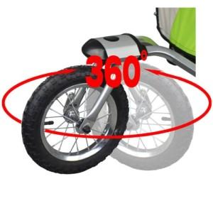 Schwenkbare Räder des Joggerkinderwagen