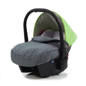 Kinderwagen Test Knorr Babyschale grau grün