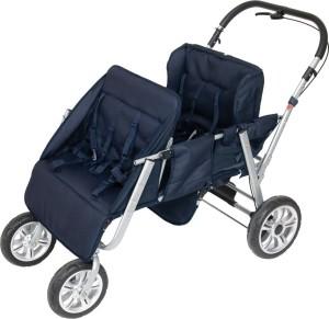 2gether Vierlingskinderwagen blau