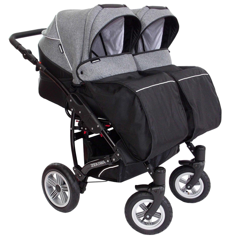 Zwillingskinderwagen nebeneinander  Kinderwagen mit Doppelsitzer im Vergleich +++ ideal für Zwillinge +++