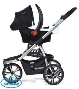 Einkaufskorb unter dem Kinderwagen ist meist nicht so groß wie bei 4-Rad-Modellen