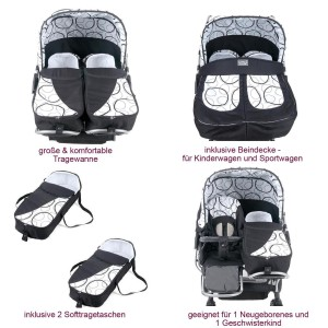 kinderwagen mit doppelsitzer im vergleich ideal f r. Black Bedroom Furniture Sets. Home Design Ideas