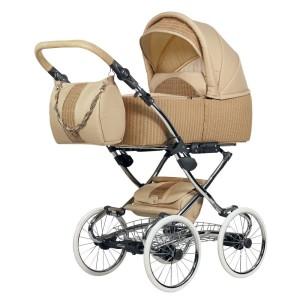 Kinderwagen mit Speichenrädern