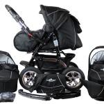 Kinderwagen mit vier gleich großen Rädern
