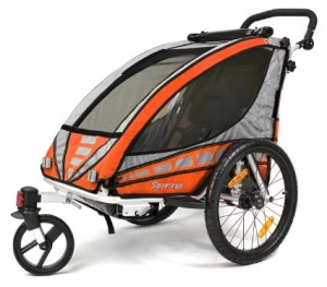 Qeridoo Sportrex 1 Kinderfahrradanhänger Q3000A